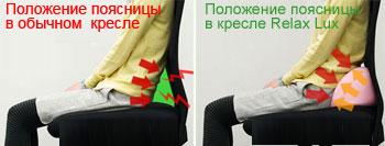 Кожаное кресло реклайнер Relax Lux спинка