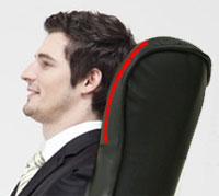 Кожаное кресло реклайнер Relax Lux подголовник