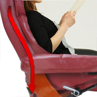 Кожаное кресло реклайнер Relax Lux сиденье