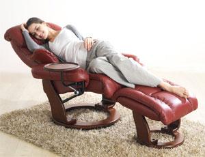 Кожаное кресло реклайнер Relax Mauris материалы