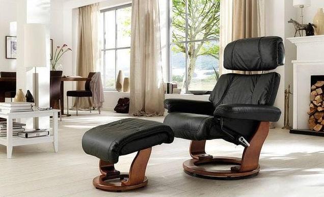 Кресло реклайнер из натуральной кожи Relax Piabora