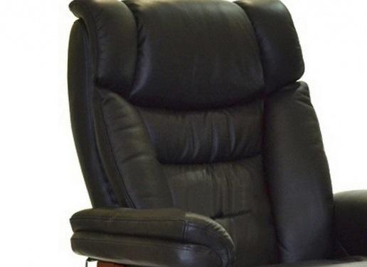 Кожаное кресло реклайнер для дома и офиса Relax Zuel спинка