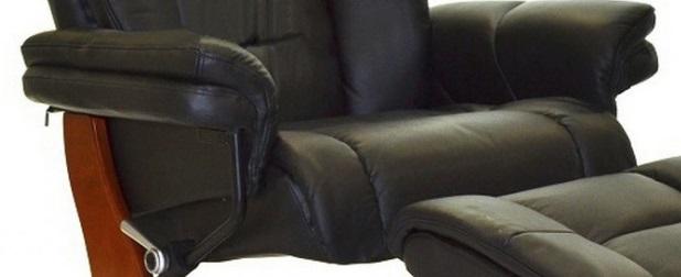 Кожаное кресло реклайнер для дома и офиса Relax Zuel сиденье