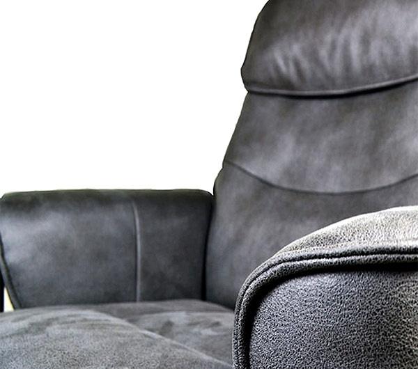 Кожаное кресло реклайнер Relax Rio материал