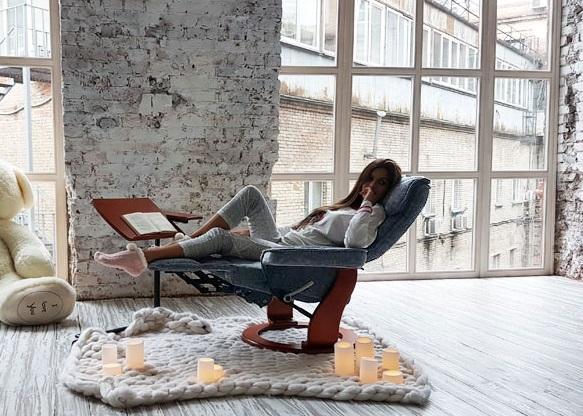 Кожаное кресло реклайнер Relax Rio