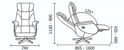 Кресло с электрическим реклайнером Relax Monarch 4071N